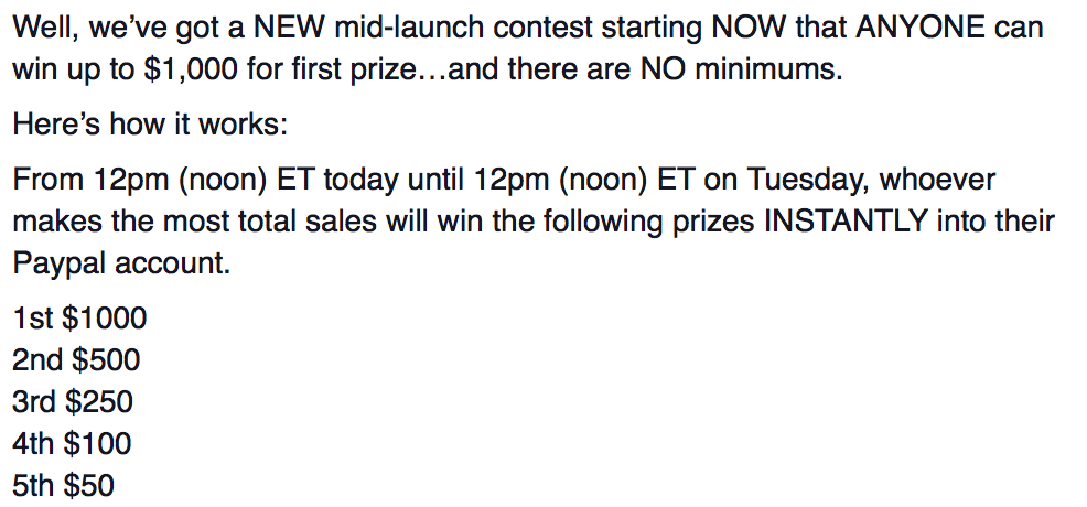 Mid-Launch Contest