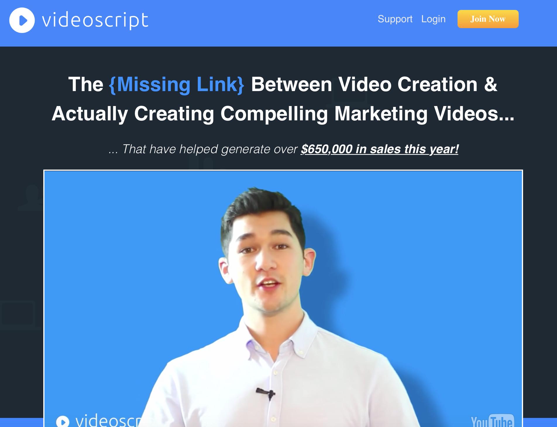 video script bonus